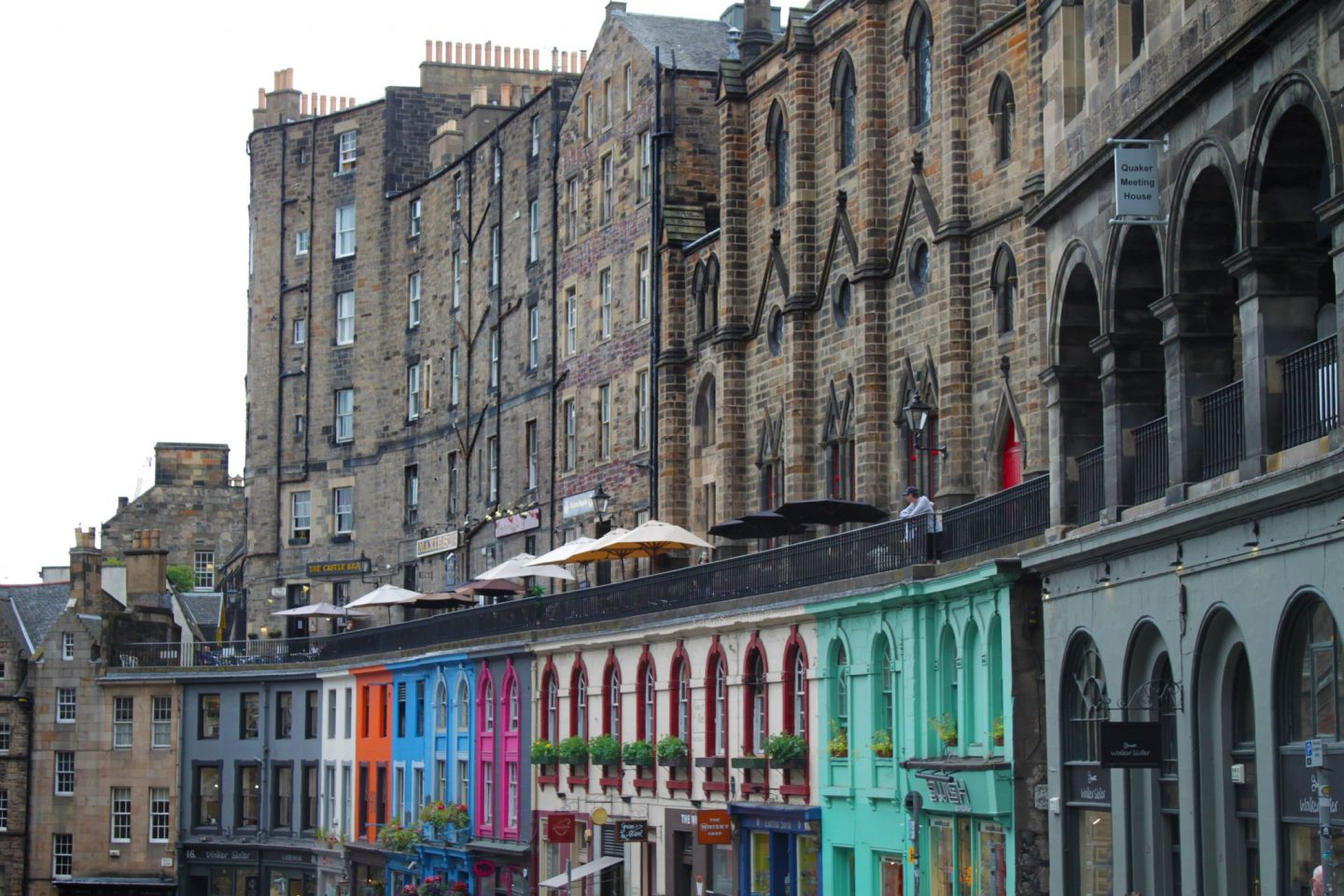 Vistoria Street, Edinburgh, colourful