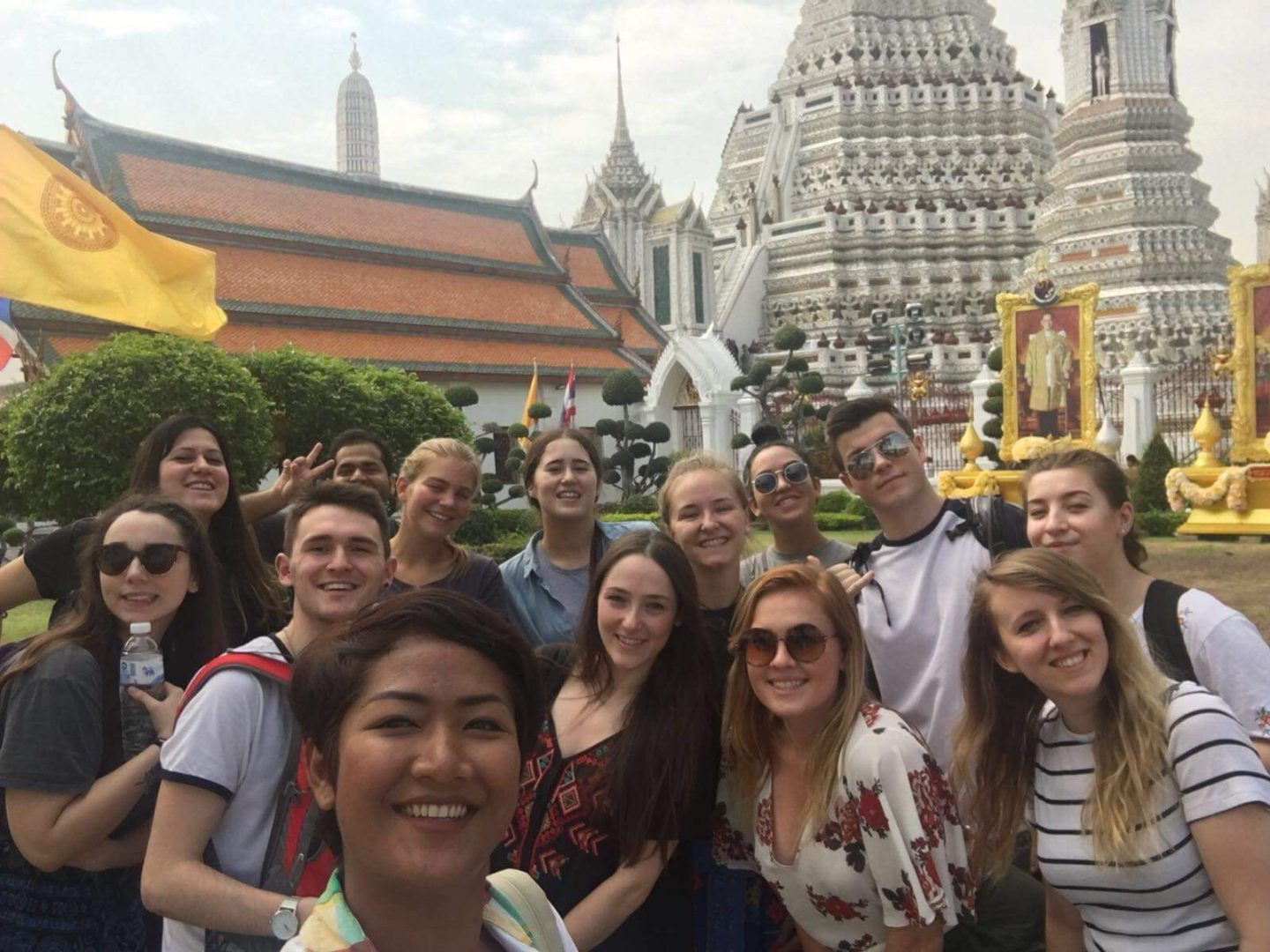Thailand group shot at temple