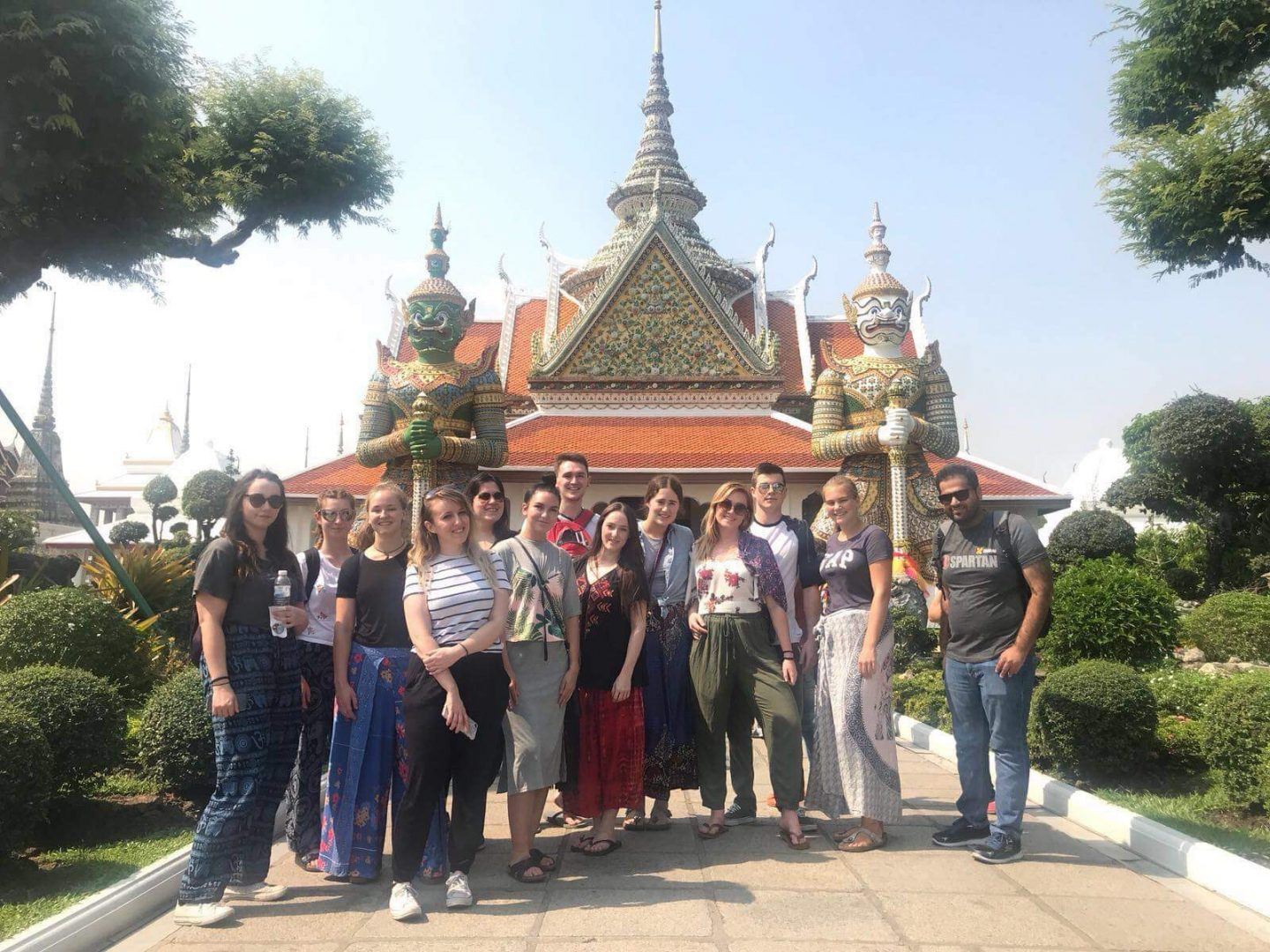 Thailand Group Shot Temple