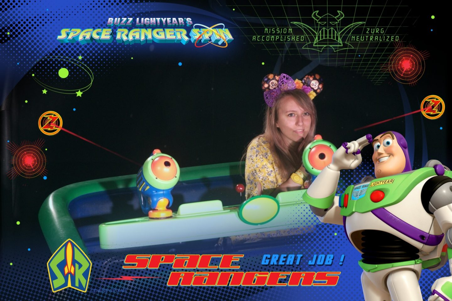 Disney World Buzz Lightyear Space Ranger Spin