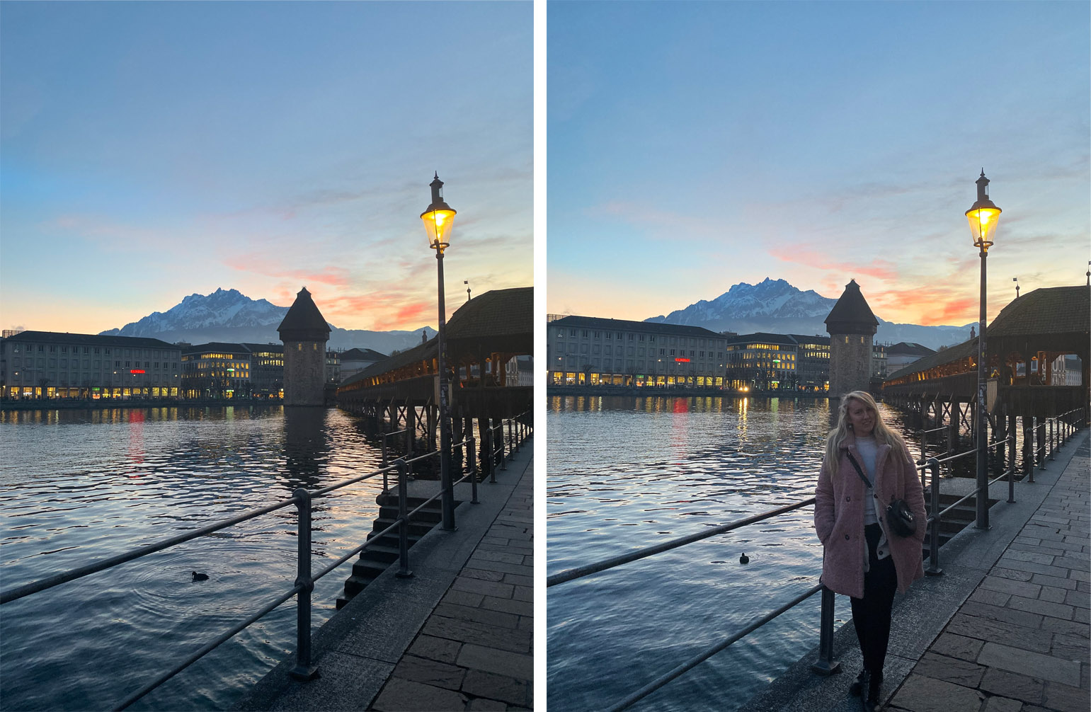 lucerne sunset river view