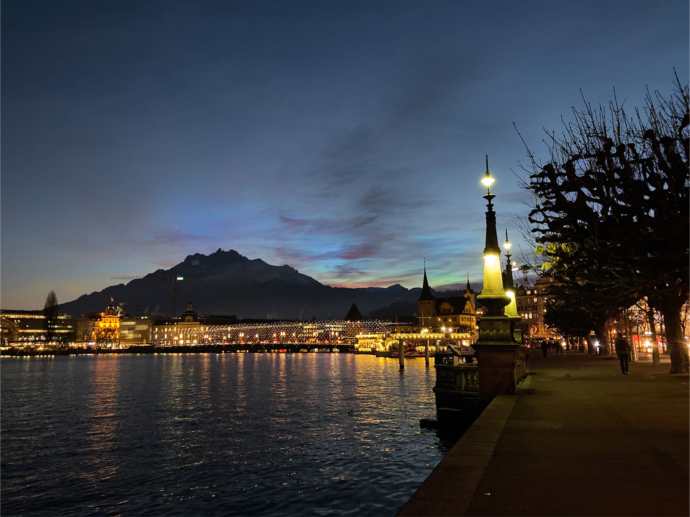 Lucerne sunset view