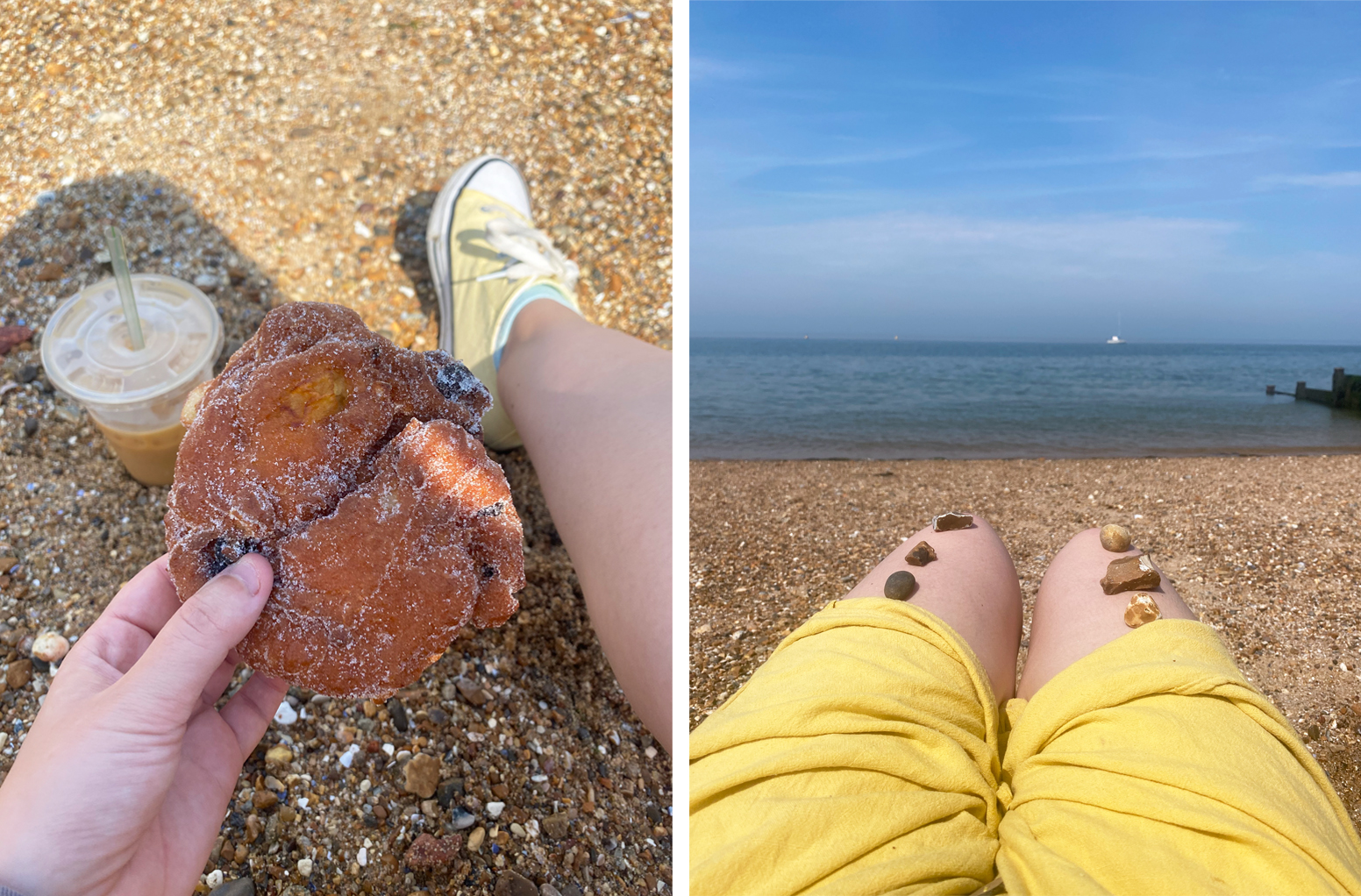 Whitstable Beach, Kent, food, beach and scenery