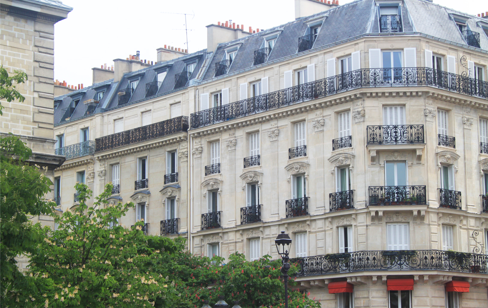Paris Street Building Architecture