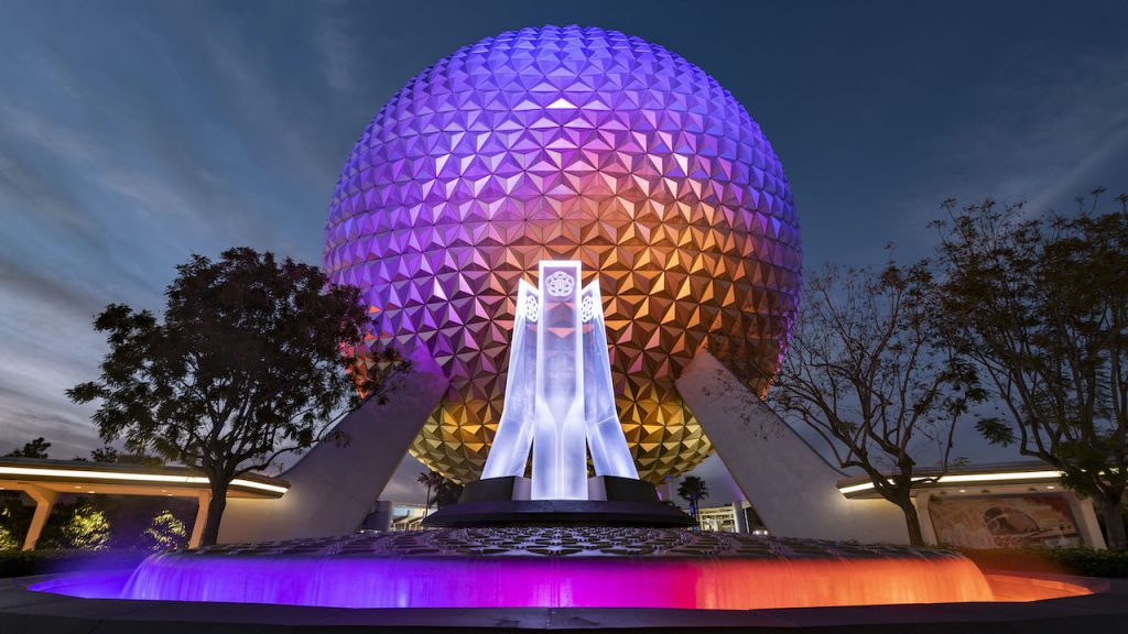 Changes at Disney World , Epcot Fountain