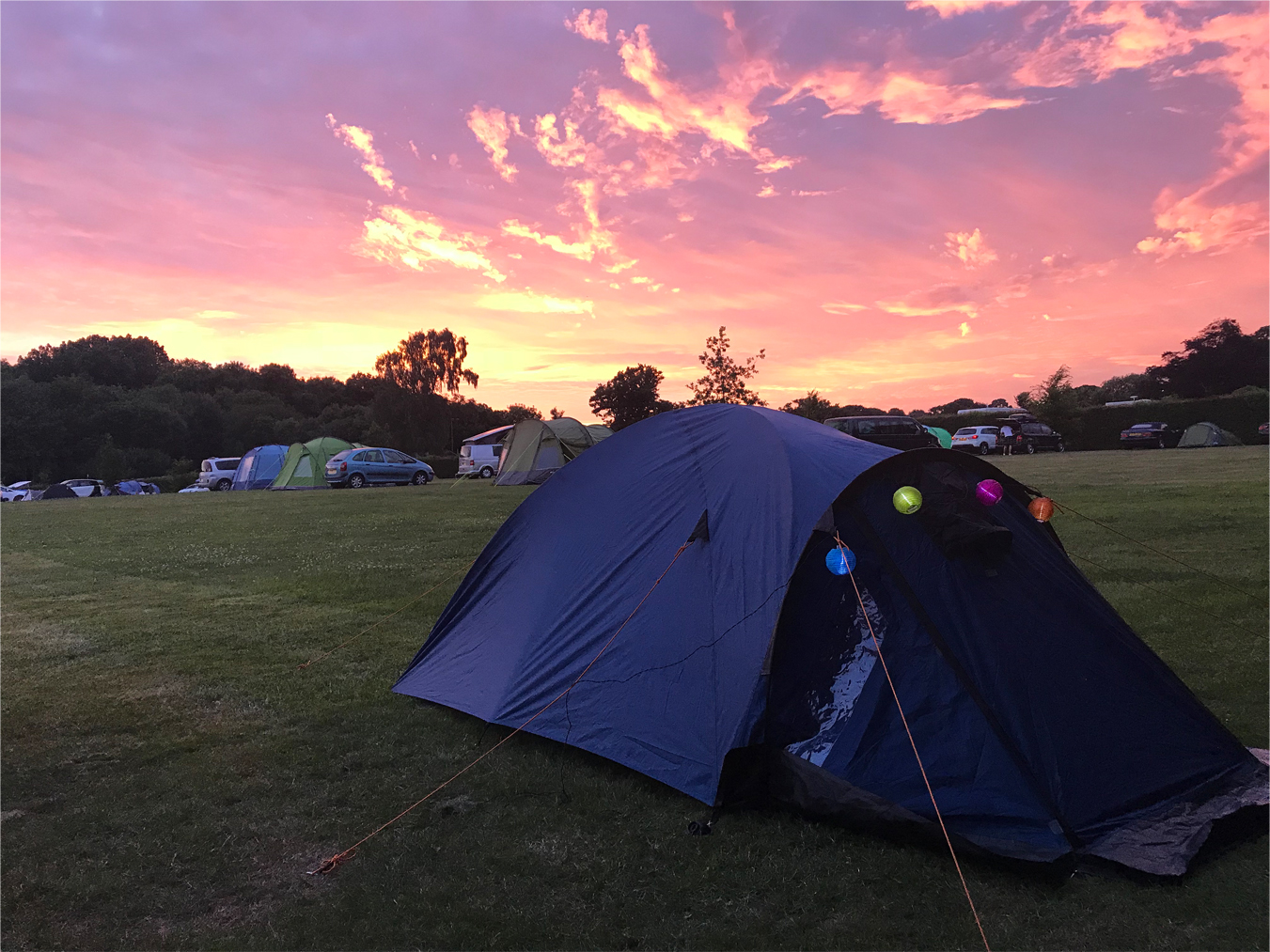 Bournemouth Sunset Tent, Beginners guide to camping, tent pitch